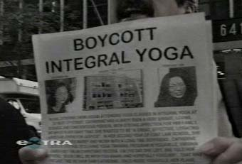 Protestors outside St. Peter's Church - Boycott Integral Yoga